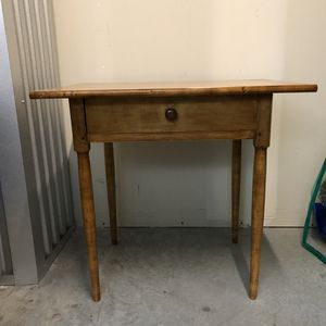 "Solid maple, custom made Shaker style side table. Very sturdy and well made. From Shaker workshop. h: 26"" x w: 28 1/4 x d: 21 1/8"" for Sale in Seattle, WA"