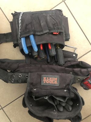 Klein tool belt with electrician hand tools for Sale in Los Angeles, CA