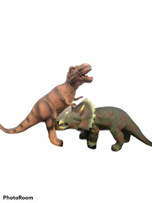 Set of large rubber Dinousaur toys for Sale in Manteca, CA