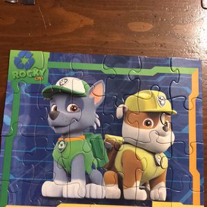 Rocky & Rubble Paw Patrol Puzzle for Sale in Hudson, IL