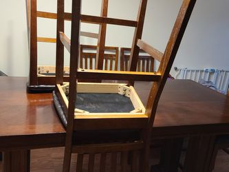 China Hutch ,dining Table With 6 Chairs Plus 2 Brand New Cabinets For Free for Sale in Fresno,  CA