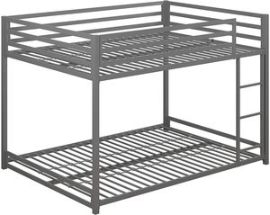 New DHP Miles Metal Full Over Full Bunk Bed, Silver. for Sale in Las Vegas, NV