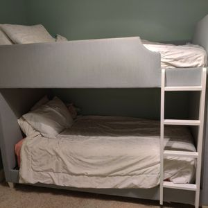 Grey Upholstered Twin Bunk Beds for Sale in Bonney Lake, WA