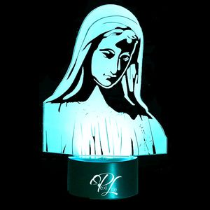 3D Illusion Night Light Virgin Mary 7 Color Light Change for Sale in Las Vegas, NV