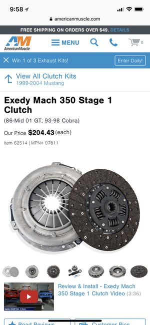 01-04 Mustang clutch & flywheel for Sale in Port Orchard, WA