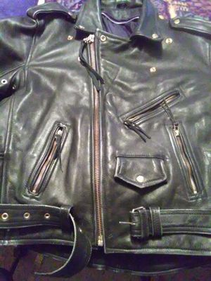 Men's m/c heavy leather jacket for Sale in Las Vegas, NV