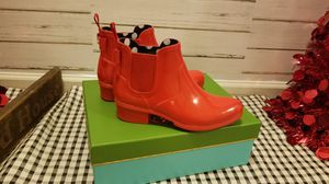 New Kate spade telly maraschino rubber boots sz 7 for Sale in Swedesboro, NJ