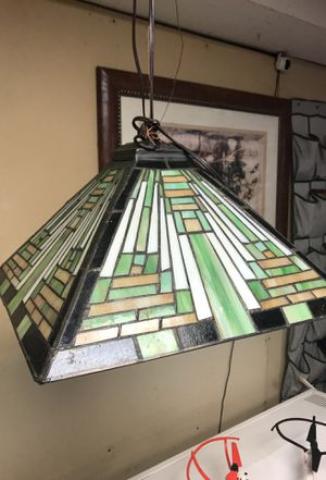 Stained glass hanging lamp for Sale in Greenville, SC