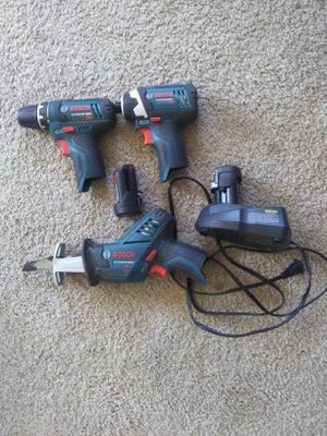 Bosch 12v Drill Driver Sawzall for Sale in Missoula, MT