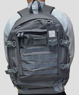 Brand NEW! Grey Large Tactical Backpack For Traveling/Outdoors/Hiking/Hunting/Fishing/Biking/Skateboarding/Sports for Sale in Carson, CA