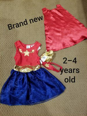 Halloween Age 2-4 years old Brand new with tags Wonder Woman costume for Sale in Renton, WA