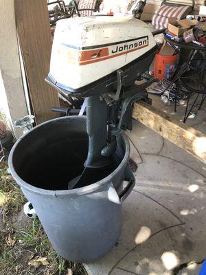 Johnson 6hp outboard motor for Sale in Sacramento, CA