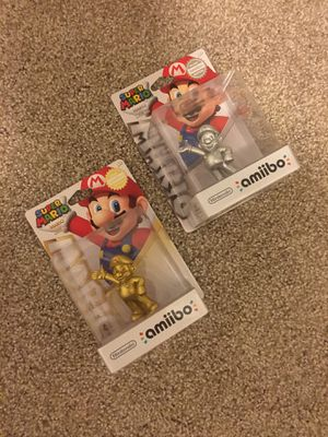 Silver and Gold Mario amiibo (new) for Sale in Kirkland, WA