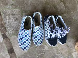 blue checkered vans for Sale in Vancouver, WA