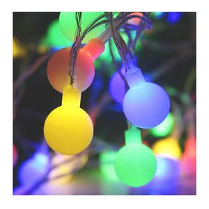 Super Bright LED Ball String Lights DC Powered with 50 LEDs, Waterproof Globe String Light for Indoor & Outdoor Decoration (Multicolor) for Sale in Santa Ana, CA