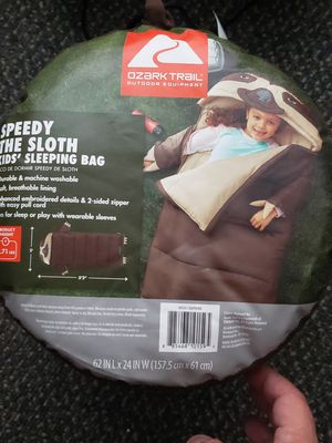 Ozark childs sloth sleeping bag (2 available) for Sale in Phillips Ranch, CA