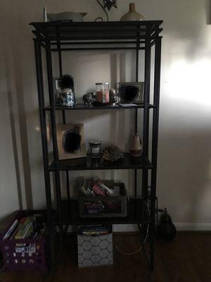 Tall metal/glass shelf for Sale in Lynchburg, VA
