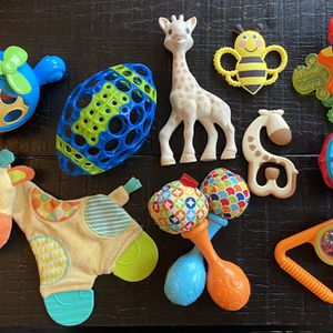 Assortment of Rattles, Toys, and Teethers for Sale in Austin, TX