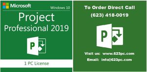 Microsoft Project 2019 / product key with USB install media for Sale in Buckeye, AZ