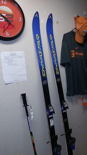 Vintage Omega Kevlar slalom SLS skis 1 poles Kevlar dynastar for Sale in Knoxville, TN