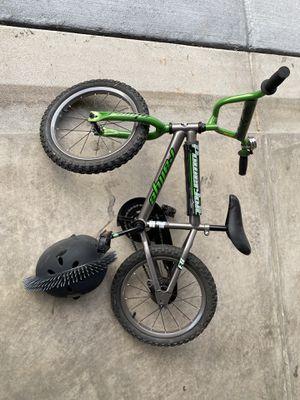 Boys bike with helmet for Sale in Moseley, VA