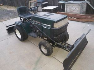 Craftsman tractor with attachments no mower deck it takes a 46 inch you can buy for 200.00 dollars at a dealer for Sale in Lochbuie, CO