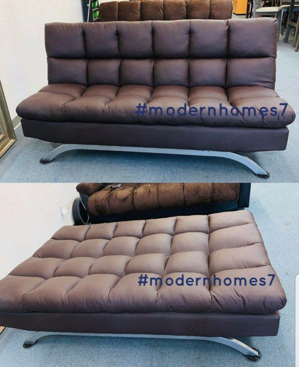 leather sofa bed sleeper couch futon
