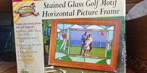 CLUBHOUSE COLLECTION STAINED GLASS MOTIF PICTURE FRAME for Sale in Georgetown, TX