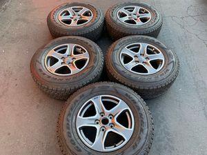 "(5) 17"" Jeep Wrangler Rubicon Takeoffs + 245/75R17 Goodyear - $750 for Sale in Santa Ana, CA"