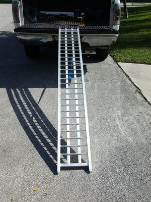Motorcycle ramp with strap 7.5ft solid state aluminum cbr600 cbr1000 r1 r6 zx9r zx6r ducati cruiser gsxr750 600 1000 kawasaki honda suzuki yamaha for Sale in Pompano Beach, FL