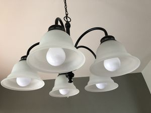 One chandelier and 3 pendant lights for Sale in Seattle, WA