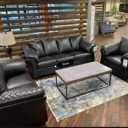 Betrillo♦️ Black Living Room Set 🌺New ▶️Instock for Sale in Silver Spring,  MD