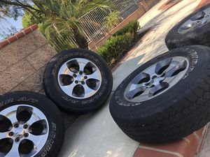 tires + rims all 4 only! And lug nuts. 255/70/18 for Sale in Corona, CA