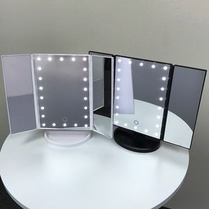 "(New In Box) $20 each Tri-fold LED Vanity Makeup 13.5""x9.5"" Beauty Mirror Touch Screen Light up Magnifying for Sale in La Mirada, CA"