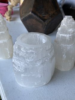 135 Selenite Votive Candle Holders And 65 Crystal Towers for Sale in Santee,  CA