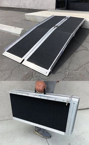 """New $115 Non-Skid 5' ft Aluminum Portable Wheelchair Scooter Mobility Folding Ramp (60x28"""") for Sale in El Monte, CA"""