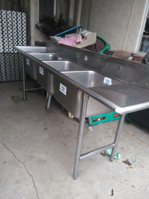 3 components sinks stainless steel for Sale in Fontana, CA