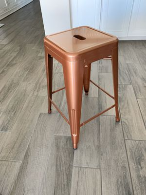 Six Glossy Copper Metal Bar/Counter Stools for Sale in Gilbert, AZ