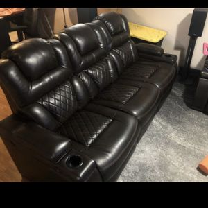 Warnerton Power Reclining Sofa and Loveseat with Console for Sale in Olympia Fields, IL