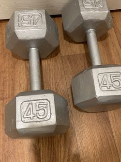 Dumbbells 45lb Set (90lbs Total) $120 Pice Is Firm for Sale in Bellevue,  WA