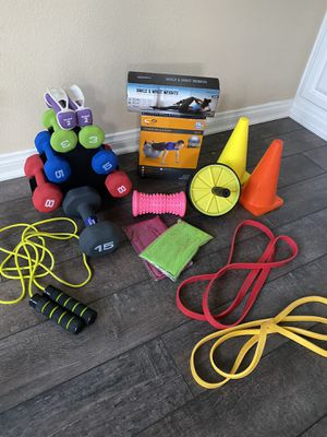 Fitness Equipment and Weights Set for Sale in Santa Ana, CA