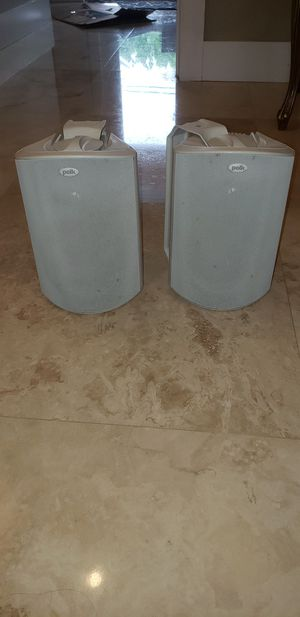 Polk Audio (Atrium 5) indoor/outdoor speakers(pair) for Sale in Hialeah, FL