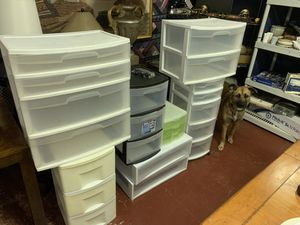 Plastic Storage Drawers Lot for Sale in Lauderdale Lakes, FL