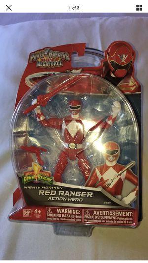 Power Rangers Super MegaForce Mighty Morphin Red Ranger Action Hero Figure for Sale in Lodi, CA