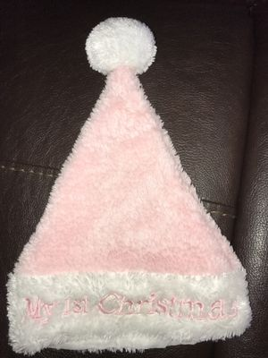 My 1st Christmas pink Santa hat for Sale in Rustburg, VA