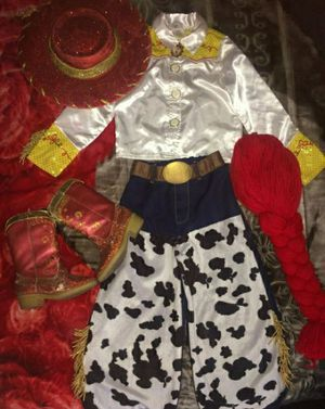 Disney Store Toy Story Jessy Costume Set Boots 9/10C Wig One Size Hat One Size Used Conditions for Sale in Riverside, CA