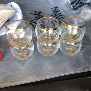 Continental Airlines Glasses - 6 for Sale in Upland, CA
