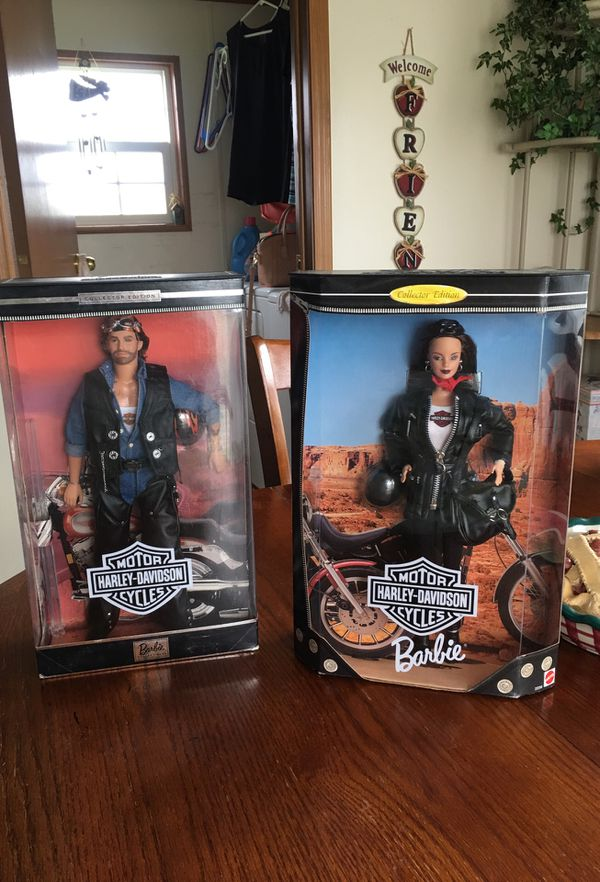 Rare Harley Davidson Barbie dolls. Boxes in great condition