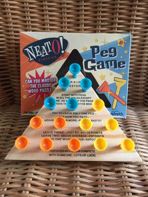 Small Peg Board Puzzle Game for Sale in Glendale, CA