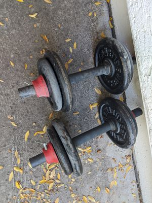 Pair of adjustable weight Dumb bells! 5 to 22 lbs! for Sale in Phoenix, AZ